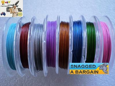 10 metre spool of coloured 0.38 Tiger Tail wire