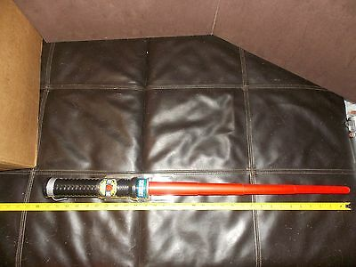 """Star Wars Clone Wars Lightsaber RED 21"""" 31"""" Slide Switch Extendable NEW NIP"""