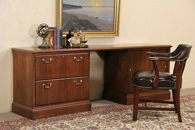 Jofco Vintage Executive Credenza or Computer Desk, Lateral File
