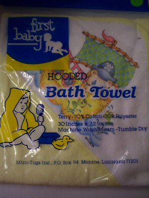 Hooded Towel By Mini Togs, Pirate Design, Yellow, Brand New