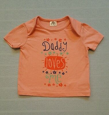 3-6 Months Old Baby Girls Top With Daddy Loves Me In Front