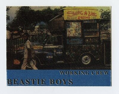 Beastie Boys Working Crew Backstage Pass Swing A Ling Record