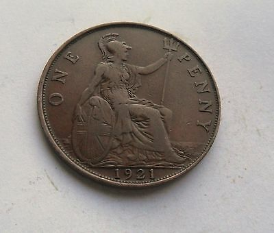 1921 George V. Penny, Great Condition.