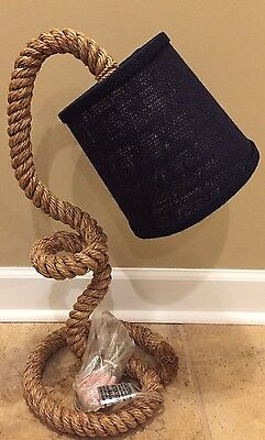 NEW Pottery Barn Kids ROPE Complete Lamp NAVY Nautical Sailor Beach