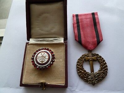 2 decorations/ medals Czechoslovakia