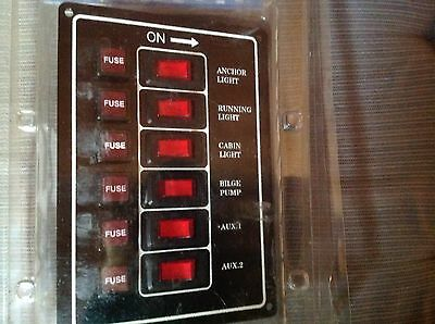 Electrical 6 Switch Control Panel