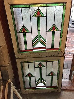 Sg 1145 2 Available Price Separate Antique Frank Lloyd Wright Design Window