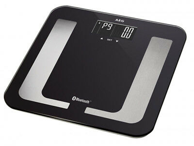 AEG Body Fat Scales Analytical Fitness 8 in 1 Black Bluetooth App