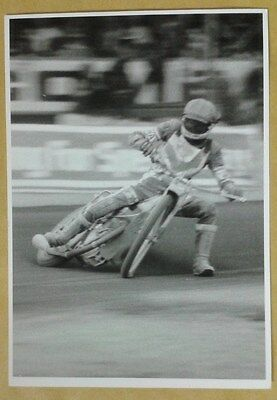 SPEEDWAY  MICHAEL   LEE  BLACK / WHITE   PHOTO (appears an original)