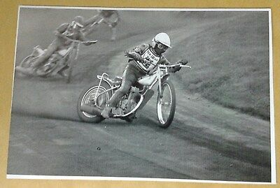 SPEEDWAY  RAY  BALES  BLACK / WHITE  PHOTO (appears an original)