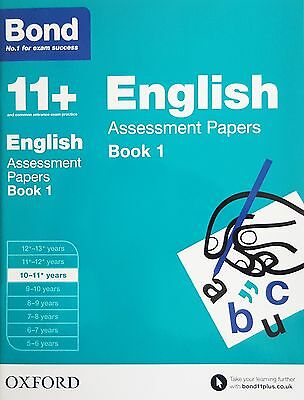 Bond 11+: English Assessment Papers - Book 1 [10-11 Years] NEW - RRP £7.99