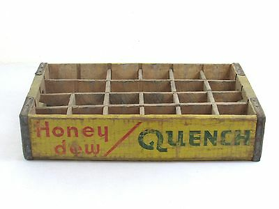 Vintage Honey Dew Quench Soda Wood Crate 24ct Pop Soft Drink De Witz Idaho