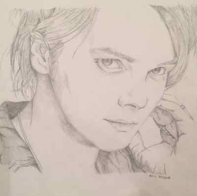 Gerard Way Tonal Drawing