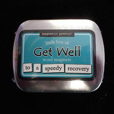 Magnetic Poetry Little Box of GET WELL Word Magnets
