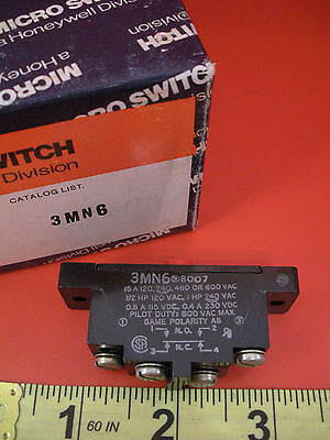 Honeywell Microswitch 3MN6 Limit Switch Pin Plunger 15a Snap Action 600v 15 amp
