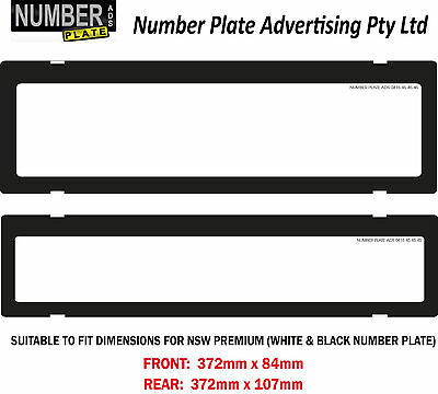 Number Plate Cover NSW Premium - No Lines