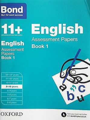 Bond 11+: English Assessment Papers: Book 1 [9-10 Years] NEW - RRP £7.99