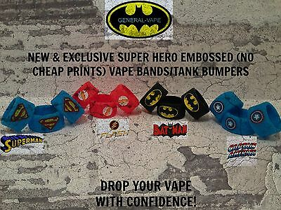 Super Hero Silicone Vape Bands Tank Bumpers High Quality Embossed!! Uk Seller!!