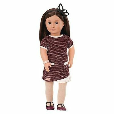 """Our Generation 18"""" June Doll Brown Hair & Eyes Fits American Girl Ships fast!"""