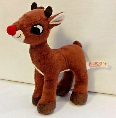 Reindeer Plush Doll Toy Rudolph Stands 8 Inches Tall