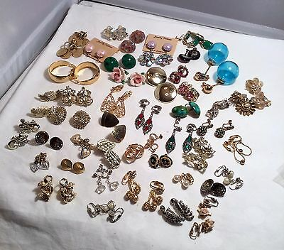 Lot Of 48 Pair Select Earrings....clip-On, Screw-Back, And Pierced