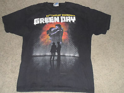 Green Day 21st Century Breakdown Original Mens USED T-Shirt Vintage