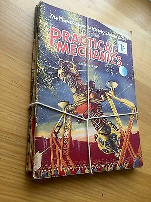 Job Lot Of 4 Vintage Practical Mechanics Magazines From 1954 Ideal Spares, Hobby
