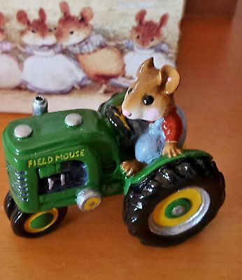 "Wee Forest Folk M-133 ""Field Mouse"" Green Tractor (WP) Mint"