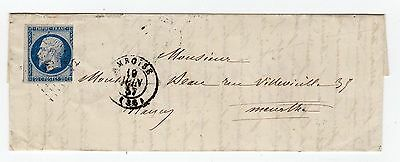 France: 1857 Entire (T034)