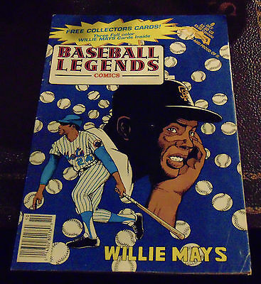 Baseball Legends Comics: Willie Mays with Collector Cards