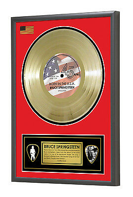 Bruce Springsteen Born in the USA Framed Gold Disc Display Vinyl (45rpm)
