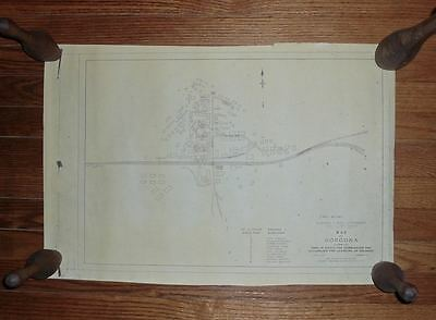 Map of Gorgona Saloons 1908 Isthmian Canal Commission Panama Zone Bars