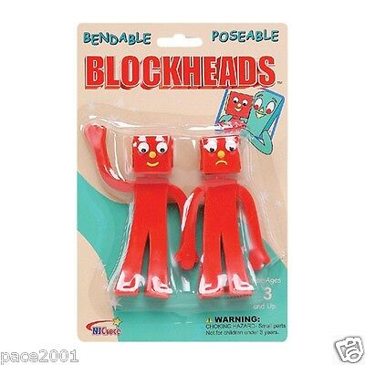 Blockheads 5in Bendable Poseable Pair