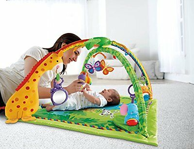 Baby Gym Comfortable 3 Modes of  Play Rainforest Melodies and Lights Deluxe