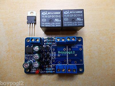 Amplifier DC Audio Speaker Protection Board with Delay Partially assembled