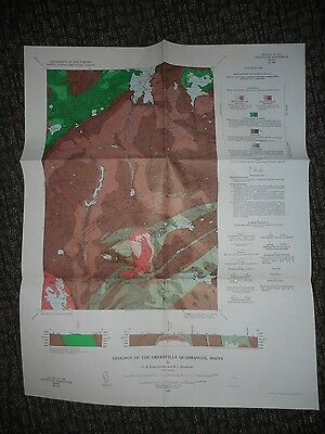 1964 USGS Geologic Map of Greenville Quadrangle, Maine GQ-330