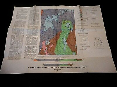 1964 USGS Geologic Map of Big Lake Quadrangle, Maine GQ-358