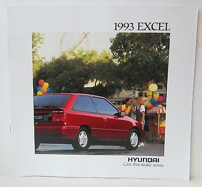 1993 Hyundai Excel Car Dealer Sales Brochure