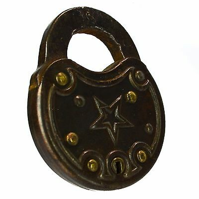 SMITH & EGGE S&E Padlock Old Steel Vintage Antique Lock (no key)