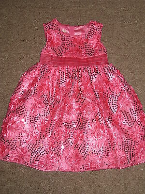 American Princess Toddler Girls Party Dress Floral Soutache Pink Size 2T