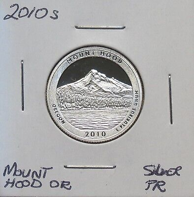 2010S Silver Proof Mount Hood State Park (One Owner) Wash. QT. 6023RCS-2