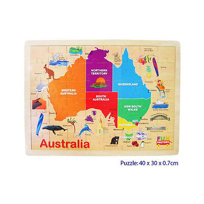 NEW Australia Map Puzzle Learning  Educational Toy Kids Childrens Toys