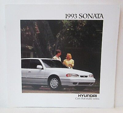1993 Hyundai Sonata Car Dealer Sales Brochure