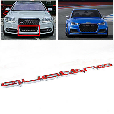 Audi Quattro Grill LOGO Badge Abzeichen Emblem A4L A3 A4 A5 RS4 RS5 RS6 S3 Rot