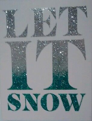C.R. Gibson glitter Xmas cards set (12) Silver faded ton blue-green sparkles