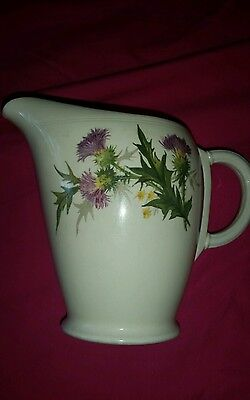 """Grindley Pottery Jug with """"Thistle"""" English made (used)"""