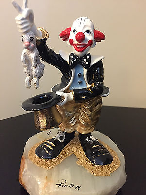 """Ron Lee  """"Harry and the Hare"""" signed 1 of 1 Clown Magician Pulling Rabbit"""