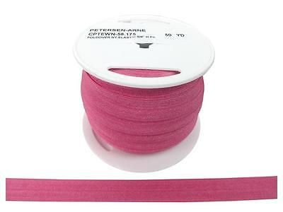 "Cheep Trims Fold Over Nylon Elastic 5/8"" Hot Pink"