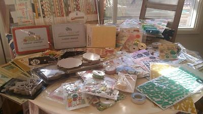 Scrapbooking Papers and Embellishment - Bulk CLEARANCE