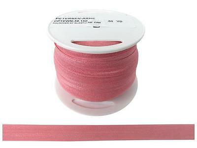 "Cheep Trims Fold Over Nylon Elastic 5/8"" Pink"